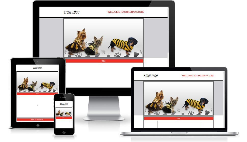 Ebay Listing Template Mobile Responsive Auction Template For Pets And Animals Eseller Templates